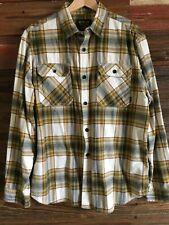 BURTON Men's Plaid Flannel Long Sleeve Button Front Shirt Size XL