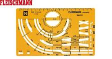 Fleischmann N 995101 Professional-Pista Gleisplanschablone 1:5 Nuovo + Conf.