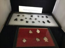 NICE LOT, COLLECTION OF 21  ARROWHEADS , INDIAN ARTIFACTS, AUTHENTIC
