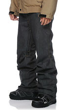 Aperture 5 Pocket Black Denim 10k Men's Snowboard Pants Slim Fit XXS