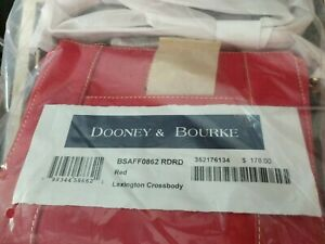 Dooney & Bourke RED saffiano Lexington Crossbody nwt orig Wrap BSAFF0862 RDRD