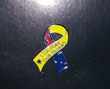 SUPPORT OUR TROOPS LAPEL PIN RIBBON - AUSTRALIAN ARMY NAVY AIR FORCE