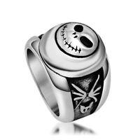 Vintage JACK Ring Surgical Steel Men Band Rings Cool Punk Fashion