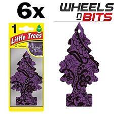 6x Magic Tree Little Tree Midnight Chic Scent Fragrance Car Van Air Freshener Pk