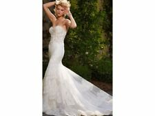 Designer Wedding Dress size 8 - Eve of Milady - crystal/pearls