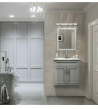 Colette 24 in. W x 19 in. D Floating Vanity in Gray with Cultured Marble Vanity