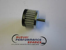 Suzuki GS1000 GSX1100 Crankcase breather filter.10mm male fitting. rubber cap.