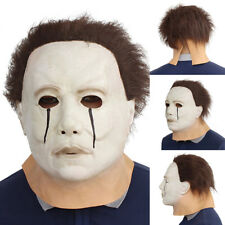 MICHAEL MYERS MASK TEARS FULL HEAD HALLOWEEN LATEX TRICK OR TREAT STUDIOS _GG