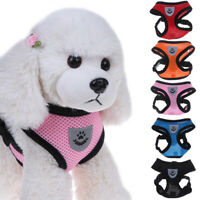 Pet Adjustable Reflective Vest Small Medium Dog Cat Harness Collar Lead Leas uW