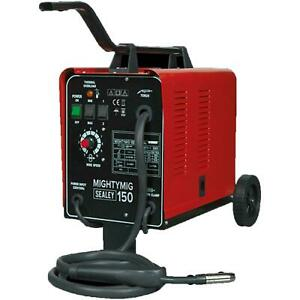 Sealey 150AMP Professional Gasless / No Gas Mig Welder UNIT 240v MIGHTYMIG150