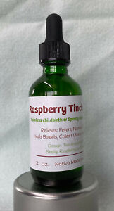 Raspberry Leaf Tincture, Pregnancy Help, High Minerals,  Yeast Infections  2 oz