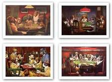 Dogs Playing Poker Set of Four Prints C.M. Coolidge Art Prints 21x14