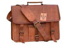 Men's Large Oiled Vintage Leather Messenger Business Laptop Hand Shoulder Bag