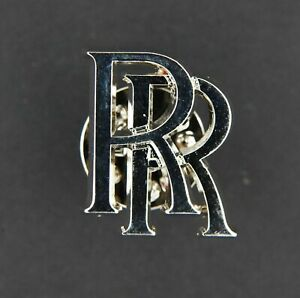 Rolls Royce RR Polished Silver Monogram Lapel Tie Pin Badge, Free Postage, New
