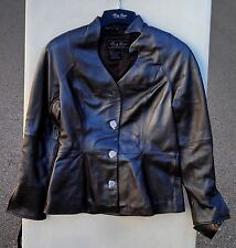 Terry Lewis Womens Jacket Coat New Genuine Lamb Leather Brown Soft Sz 6