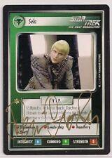 Autographed Star Trek CCG 1E BB Premiere Sela (Denise Crosby) v0273