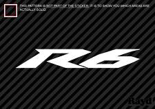 "(2x) Yamaha R6 Sticker Decal Die Cut (12"" inch) vinyl"