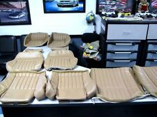 1985 1992 Pontiac Trans Am GTA Leather seat covers in correct Beechwood color