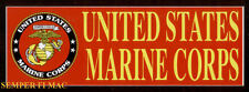 MADE IN US MARINES LOGO SEAL EGA BUMPER STICKER DECAL ZAP USS FMF MAR DIV MAW