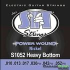 SIT Strings S1052 Power Wound Electric Guitar Strings, Heavy Bottom, 10-52 for sale
