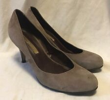 Buffalo London Pumps High Heels Women's 9B/40 Taupe Suede Leather Dress Shoes
