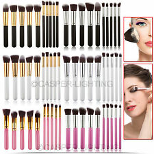 10 PCS PROFESSIONAL KABUKI STYLE BRUSHES FOUNDATION MAKE UP SET BLUSHER TOOL KIT