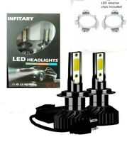H7 LED Bulbs with LED adapter retainer clips included fits VW Touran 2007.onw,,