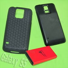 8850mAh Extended Battery Back Cover TPU Case for Samsung Galaxy S5 I9600 Phone