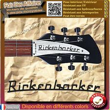 sticker autocollant RICKENBACKER GUITARE GUITAR HEADSTOCK rock decal