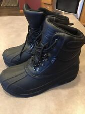Fila Men's WeatherTech Extreme Waterproof Boot Sz 6 Black