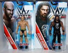 WWE Mattel ROMAN REIGNS and CESARO Wrestlemania Action Figures