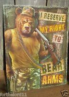 Right To Bear Arms Tin Metal Sign 2nd Amendment Guns Wall Bar Garage Shop Decor