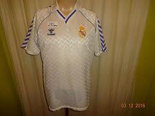 "Real madrid original Hummel hogar camiseta 1986-1989 ""sin patrocinadores"" talla m top"