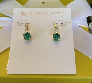 Kendra Scott Gold Plated Earrings London Blue Customized NWOT
