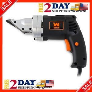Electric Metal Cutting Shears Sheet Shear Heavy Duty Cutter Power Tool Tin Snips
