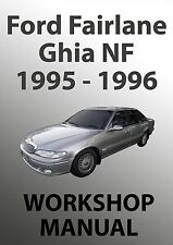 FORD FAIRLANE NF Series WORKSHOP MANUAL: 1995-1996