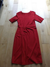 Tu stretchy body con tailored cherry red short sleeve smart work formal dress 12