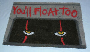 IT Pennywise Clown You'll Float Too Doormat Entrance Mat Halloween Horror Goth