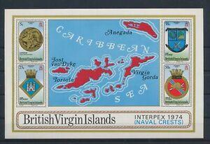 LO41625 British Virgin Islands heraldry coat of arms good sheet MNH