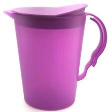 Tupperware Impressions Slimline Pitcher 2 Qt. Rocker Top Purple #3333 New