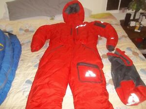 Eddie Bauer SOFT Goose Down 8000m Himalayan Expedition Climbing Suit NEW XL RED
