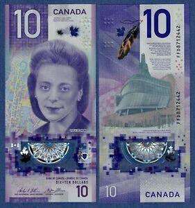 Canada $10 (2018) -BC-77a- Viola Desmond -UNC Polymer *IBNS Award Winning Note*