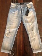 NEW Women's Sanctuary Clothing of Los Angeles Ripped Boyfriend Jeans Size 25