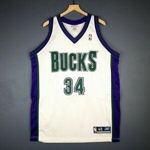 100% Authentic Ray Allen Reebok Bucks NBA Jersey Size 48 Mens