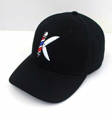 Kabod Barber pole & shears  Logo with  3D Embroidered, Barber  caps Unisex