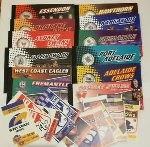 AFL Prestige Booklets(2004, 2007) and 1996 AFL Stamp Booklets - Choose from List