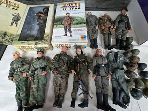 """Lot of 10 Dragon 21st Century 1:6 Scale WWII 12"""" German Soldiers Action Figures"""