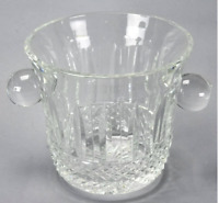 SAINT LOUIS CUT CLEAR CRYSTAL TOMMY PATTERN ICE BUCKET HAND CARVED STAMPED