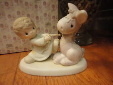 Precious Moments Figurine We're pulling For You 1987 106151 Mib