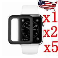 For Apple Watch Series 3/2/1 Full Edge Tempered Glass Screen Protector 38/42mm